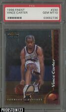 1998 Topps Finest #230 Vince Carter Raptors RC Rookie PSA 10 GEM MINT