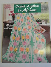 Book. Crochet Applique for Afghans. 5 Designs by Eleanor Albano-Miles. 2000. PB