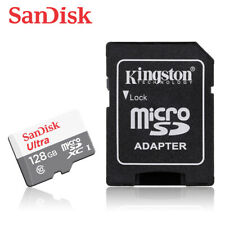SanDisk Ultra 128GB micro SDXC C10 UHS-I TF Memory Card 80MBs for Phone +ADAPTER