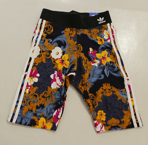 adidas x HER Studio London Women's Floral Bike Shorts SV3 Multicolor Small NWT