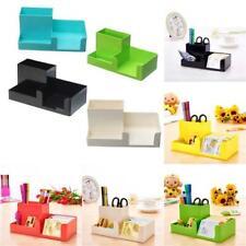 Office Home Plastic Desk Pen Pencil Holder Storage Box Stationery Organizer