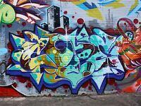 ART PRINT POSTER PHOTO GRAFFITI MURAL STREET COLOUR TEXT CITY NOFL0175