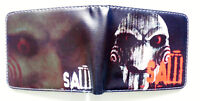 Saw Horror Movie Bifold Wallet purse id window 2 card slots coin pocket Cartoon