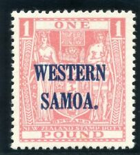 Samoa 1948 KGVI £1 pink (wmk upright) MLH. SG 210. Sc 198.
