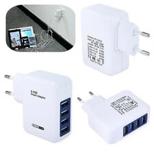 Multi 4 Port USB Charger Adapter Travel Wall AC Power Quick Charging EU Plug Hot
