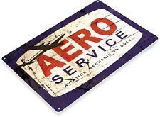 Aero Service Mechanic Duty Aviation Sign, Retro Pilot Decor Tin Sign B594