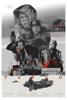 "FARGO Gabz Domaradzki   MONDO 24""x 36"" Joel Coen VARIANT   Ed 104 of 135"
