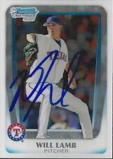 Will Lamb Texas Rangers 2011 Bowman Chrome Rookie Signed Card
