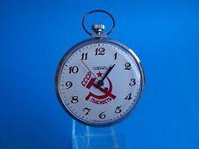 Raketa CCCP red star pocket watch vintage Montre Reloj uhr manual winding Paketa