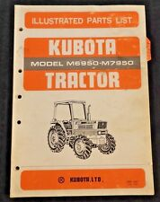 GENUINE KUBOTA M6950 M7950 TRACTOR PARTS CATALOG MANUAL VERY GOOD SHAPE
