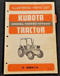 GENUINE KUBOTA M6950 M7950 TRACTOR PARTS CATALOG MANUAL VERY GOOD SHAPE