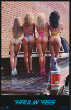 LOT OF 2 POSTERS :HAULIN' ASS - SEXY FEMALE MODELS - FREE SHIP #1008      RC16 J