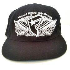 Famous Stars And Straps Men's 210 Cap Hat Flying F Flex Fit Black & White Wings