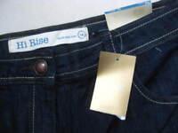 NEW BNWT unworn LADIES womens NEXT HI RISE blue JEANS UK 14 petite