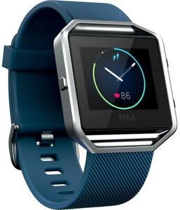 Fitbit Blaze FB502SBUL Bluetooth Smart Watch - Sports & Fitness Monitor - Blue
