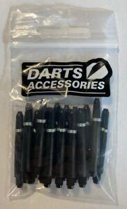 5 Sets Bulk Pack (15 Stems) BLACK Nylon Dart Stems with Gripper Ring, SHORT 34mm