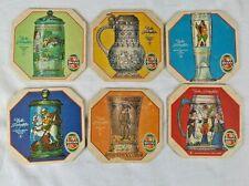 Beck's Bier vintage beer mats Edele Frinkgefabe set of 6 Pub Bar Man cave Beer