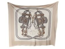 HERMES Brides de Gala Jersey Silk Scarf EUC ~ A neutral take on the classic!