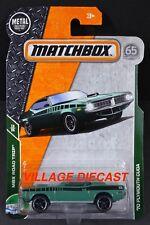 2018 Matchbox #19 '70 Plymouth Cuda SEA GREEN / MOC