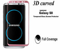 For Samsung Galaxy S8 3D Full Curved Tempered Glass Screen Protector-Rose Gold