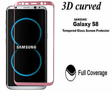 Curved 3D Tempered Glass Screen Protector For Samsung Galaxy S8 Rose Gold