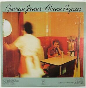 GEORGE JONES Alone Again LP 1976 COUNTRY VG++ NM-