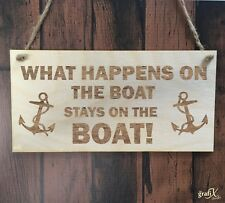 Boat Sailing Anchor Quote Wooden Plaque Sign Laser Engraved pq107