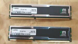 4GB Mushkin enhanced SILVERLINE (2x 2gb) 10600U 1.5v PC3 DDR3 RAM MEMORY (pair)