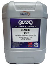 CLASSIC SAE 30 ENGINE OIL 20 L FOR CLASSIC, VINTAGE VEHICLES LOW DETERGENT EXOL