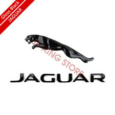 Glossy Black Emblem Rear Badge Decal For Jaguar XF XJ XK XJR XJS E X S TYPE
