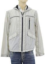 $395 ARMANI Jeans Light Gray Windbreaker Rain Proof Mens Jacket & Vest Size XL