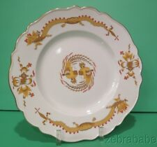 """Meissen Yellow Dragon Red Dot Accent Dinner Plate 10 3/4"""""""