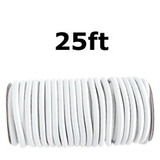 """25ft 1/4"""" White Shock Cord Marine Grade Bungee Heavy Duty Tie Down Stretch Rope"""