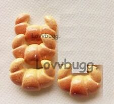 4 Croissants Rolls Bread for 18 inch Doll Food Accessory American Girl Lovvbugg