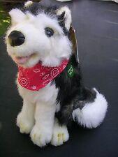 VINTAGE SIBERIAN HUSKY DOG PLUSH ~ HOLLY GO LIGHTLY w/TAGS ~ TALKS ~ EXCELLENT!