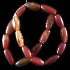 "18-22mm soochow jade barrel beads 15"" strand"