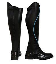 "Riders Trend Kid's Super Grip Grain Gaiter Leather Half Chaps CS Tall 14"" S New"