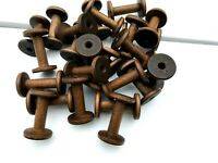 "A Lot of 25  Wooden 3 3/4"" Silk Spools"