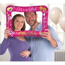 BABY SHOWER GENDER REVEAL Girl INFLATABLE FRAME ~ Party Supplies Pink Favor
