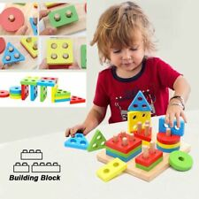 Wooden Shape Building Blocks Kids Toys For Child Legos Figures
