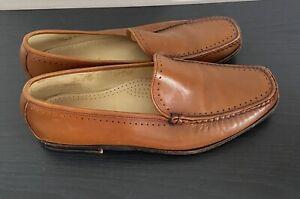 Allen Edmonds Men's GRANBY Venetian Loafer Slip On Tan Shoes