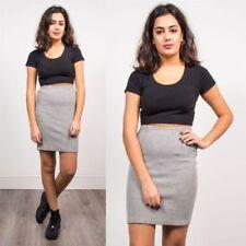 Cotton Blend Regular Size Vintage Skirts for Women