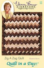 ZIG A ZAG QUILT & TABLE RUNNER ~ Quilt in a Day Pattern ~ Easy Jelly Roll Strips