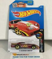 '76 Greenwood Corvette #63 * RED * 2016 Hot Wheels * NC21