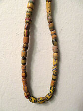 Antique String Lot of 56 Yellow Venetian African Trade Beads