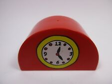 LEGO DUPLO 31213 - Brique Arrondie Brick 2x4x2 Curve - Red Rouge avec Horloge