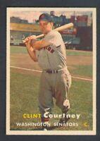 1957 Topps CLINT COURTNEY #51 Senators *EXCELLENT-MINT*
