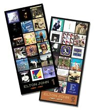 """ELTON JOHN twin pack discography magnet set (two 4.75"""" x 3.75"""" magnets)"""