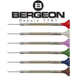 Bergeon 30081 Watchmaker's Flat Head Screwdriver with Swivel Head Swiss Made