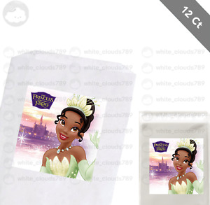 """12 Tiana Princess and the Frog 2.5"""" Sticker Label for Bag Treat Box Party Favor"""